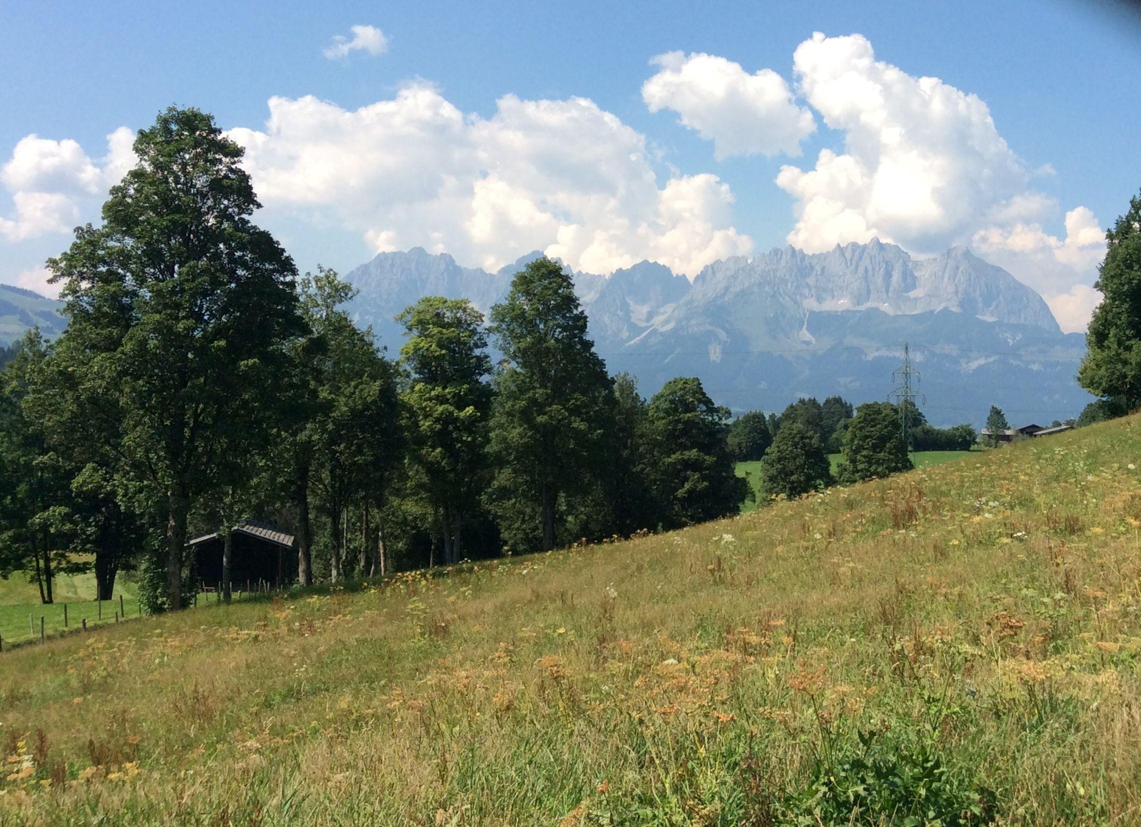 der Wilde Kaiser vor der Haustüre am Bauerhof in Kitzbühel