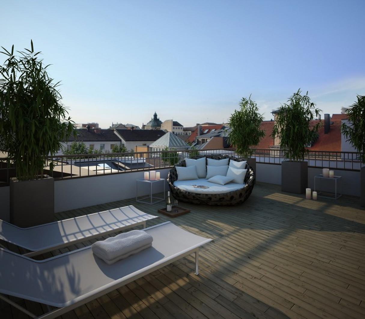 Wohnen über den Dächern von München